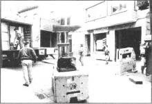 Verhuis Drukkerij Leën, Zuivelmarkt 48 (uit: De laatste grote KMO verlaat Hasselt-centrum (1994))