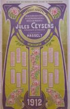 Jaarkalender 1912, Jules Ceysens & Ernest Roose (collectie Het Stadsmus Hasselt)