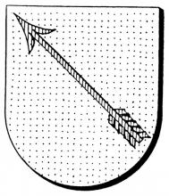 Familiewapen de Heusch (uit: Oog in Oog (2003), p. 188)