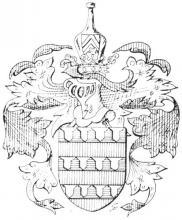 Familiewapen de Berlaymont (uit: Het Belang van Limburg, 16-12-1972, p. 17)