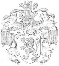 Familiewapen de Grady (uit: Limburgse families en hun wapen (1984), p. 27)