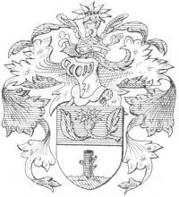 Familiewapen de Stockhem (uit: Het Belang van Limburg, 26-08-1972, p. 11)