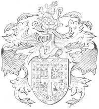 Familiewapen de Zerezo (uit: Limburgse families en hun wapen (1984), p. 41)
