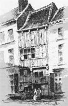 De Ossekop, litho, Paul Marie Bamps (1862-1932) (collectie Het Stadsmus Hasselt)