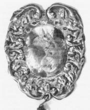 Schaal G. Driesen, 1826, Niklaas Maes (Genk/Bokrijk, Openluchtmuseum (Koningsbreuk van de schuttersgilde van Grote-Spouwen))
