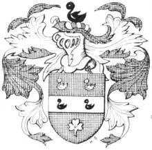 Familiewapen s'Jonckeren, burgemeester 16de eeuw (uit: Het Belang van Limburg, 08-05-1982, p. 43)