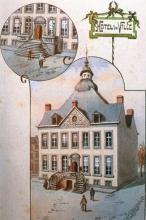 Stadhuis, Groenplein, 1890, gouache, P.M. Bamps (1862-1932) (privécollectie)