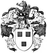 Familiewapen van Ertryck (uit: Het Belang van Limburg, 10-07-1982, p. 33)