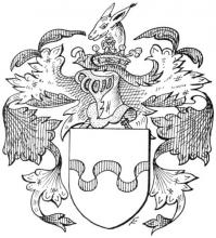 Familiewapen van Groesbeek (uit: Limburgse families en hun wapen (1978), p. 117)
