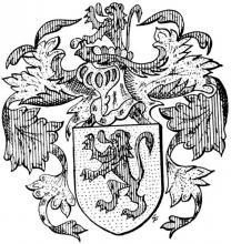 Familiewapen van Leeuw (uit: Limburgse families en hun wapen (1973), p. 134)