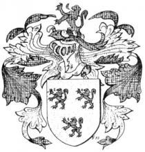 Familiewapen van Ryckel (uit: Het Belang van Limburg, 26-06-1982, p. 37)