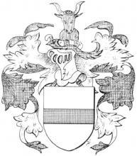 Familiewapen van den Edelbampt (uit: Het Belang van Limburg, 05-09-1970, p. 14)